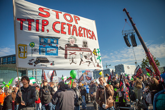 anti TTIP Demo am 10.10.2015